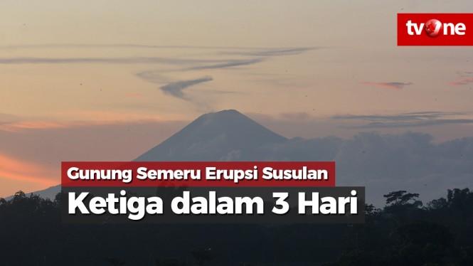 Gunung Semeru Erupsi Susulan Ketiga Dalam 3 Hari Vlix Id