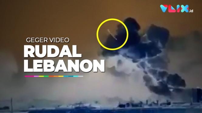 Geger Video 'Rudal' Hantam Pelabuhan Beirut Lebanon