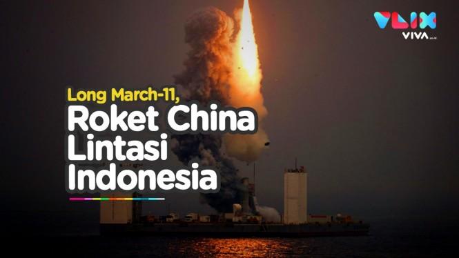 Roket China Terbang Lintasi Langit Indonesia