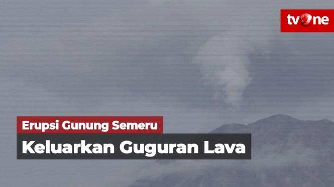 Gunung Semeru Keluarkan Guguran Lava Pijar