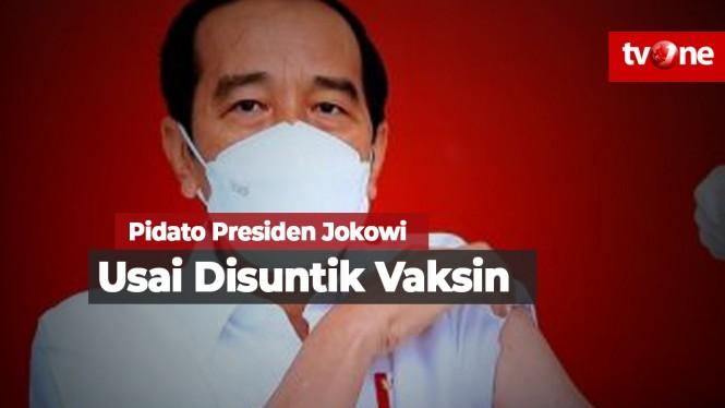Kata Presiden Jokowi Usai Disuntik Vaksin Sinovac