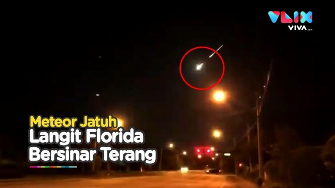 Detik-detik Meteor Besar Melintasi Langit Florida