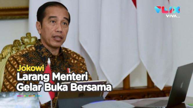 Jokowi Larang Menteri Gelar Buka Puasa Bersama
