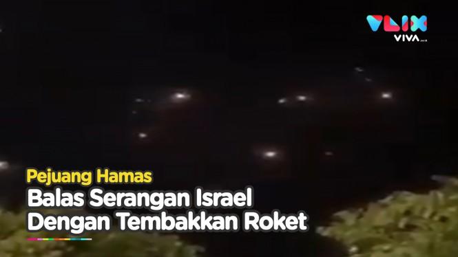 Panas! Hamas Tembakkan Ratusan Roket ke  Tel Aviv