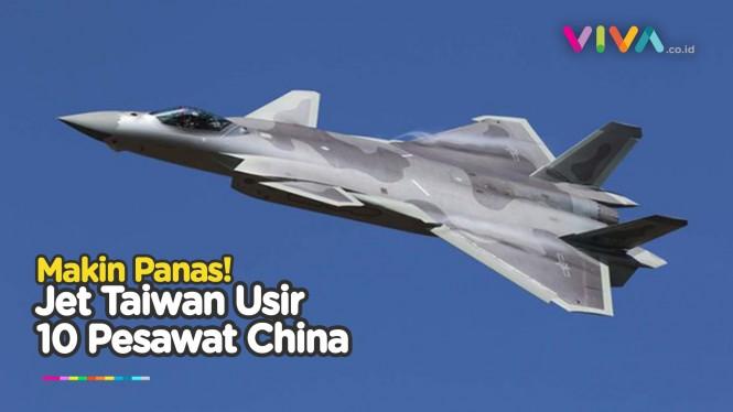 Jet Tempur China dan Taiwan Adu Otot